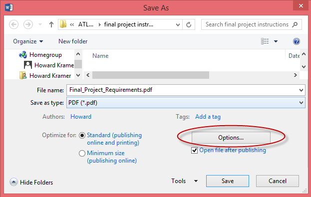 how to save all open documents for web